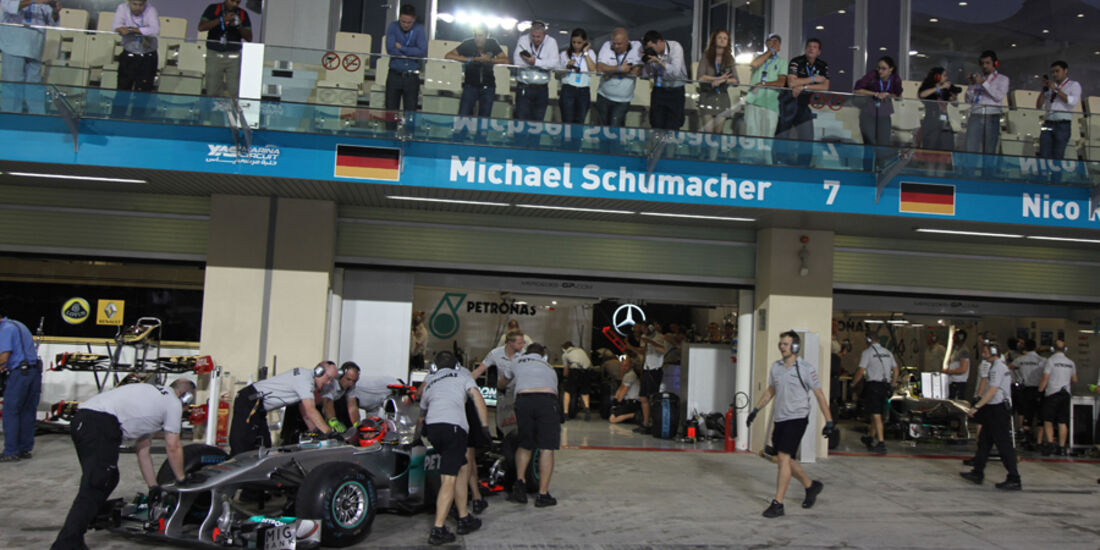 Michael Schumacher - GP Abu Dhabi - Qualifying - 12.11.2011