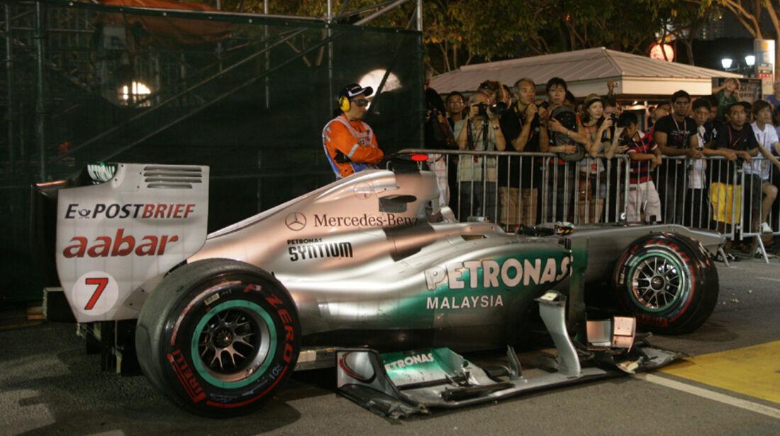 Michael Schumacher GP Singapur Crashs 2011