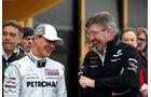 Michael Schumacher Ross Brawn 2011