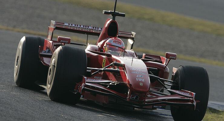Michael Schumacher im 2007er Ferrari