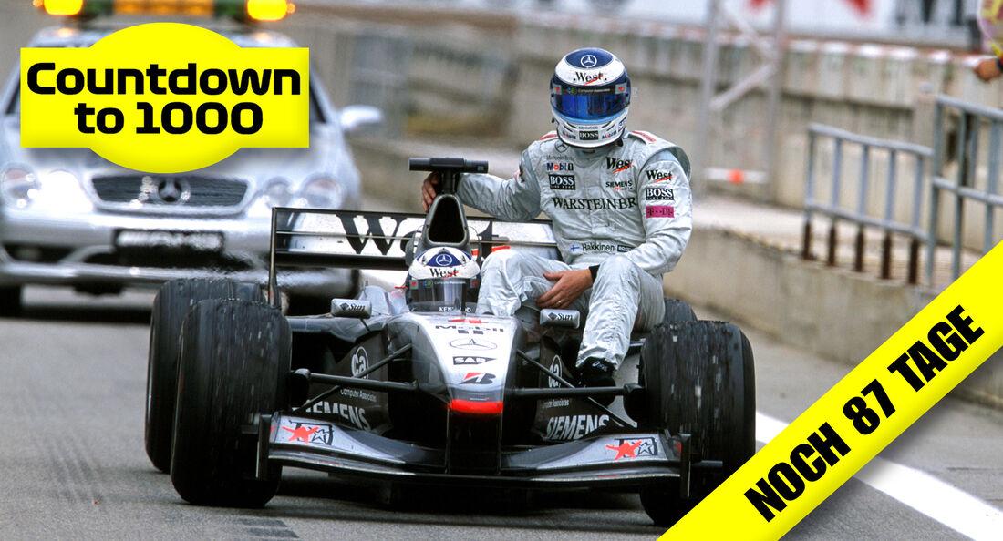 Mika Häkkinen & David Coulthard - GP Spanien 2001