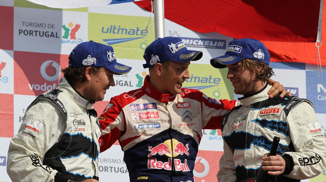 Mikko Hirvonen Podium Rallye Portugal 2012