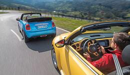Mini Cooper Cabrio, VW Beetle Cabrio 1.4 TSI, Ausfahrt
