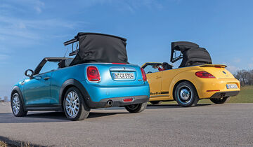 mini cooper cabrio und vw beetle cabrio im vergleich. Black Bedroom Furniture Sets. Home Design Ideas