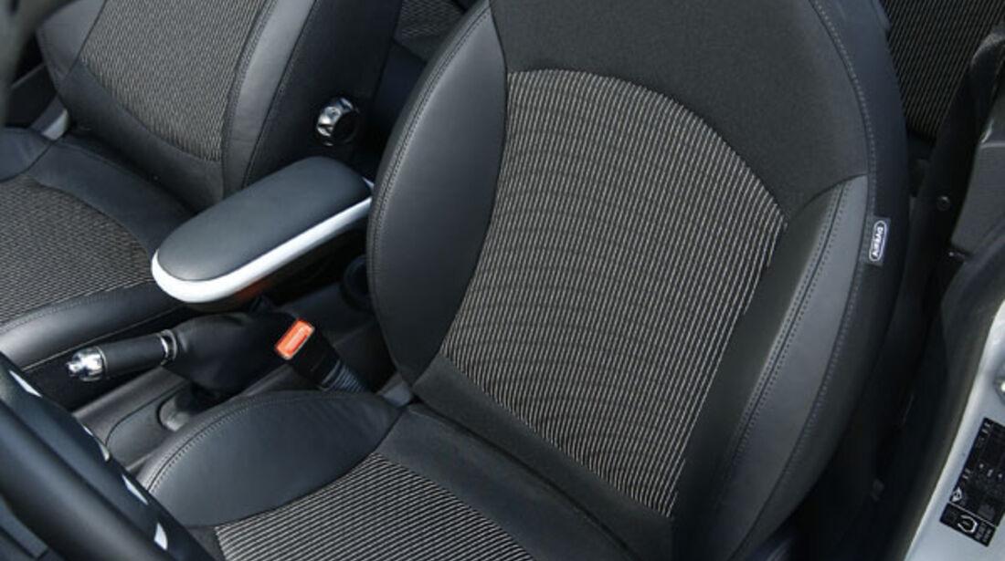 Mini One Cabrio, Fahrersitz