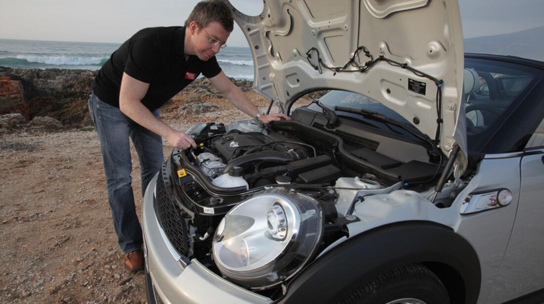 Mini Roadster, Motor, Motorhaube