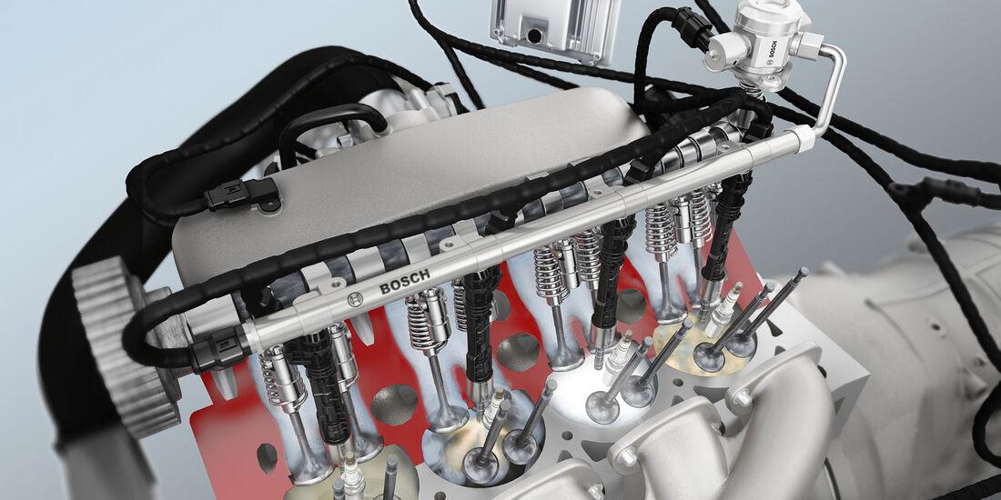 Mit der Benzin-Direkteinspritzung lassen sich bis zu 15 Prozent Kraftstoff sparen.