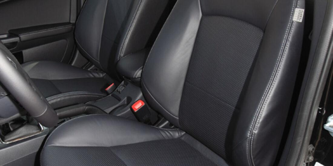 Mitsubishi Lancer, Fahrersitz