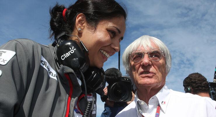 Monisha Kaltenborn Bernie Ecclestone 2012