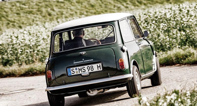 Morris Mini Cooper S, Heckansicht