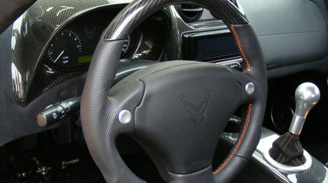 Mosler Raptor GTR, Innenraum, Cockpit