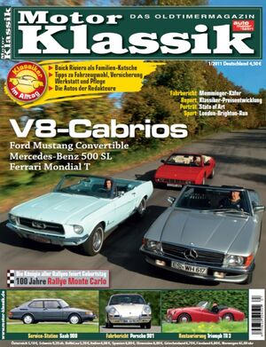 Motor Klassik 01/2011 - Hefttitel