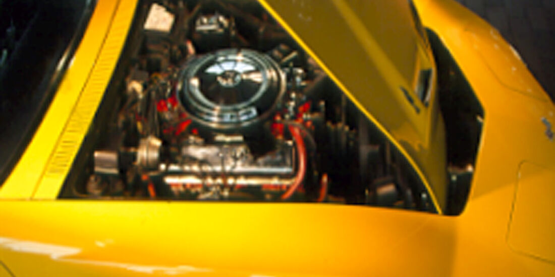 Motor der Chevrolet Corvette Stingray 454