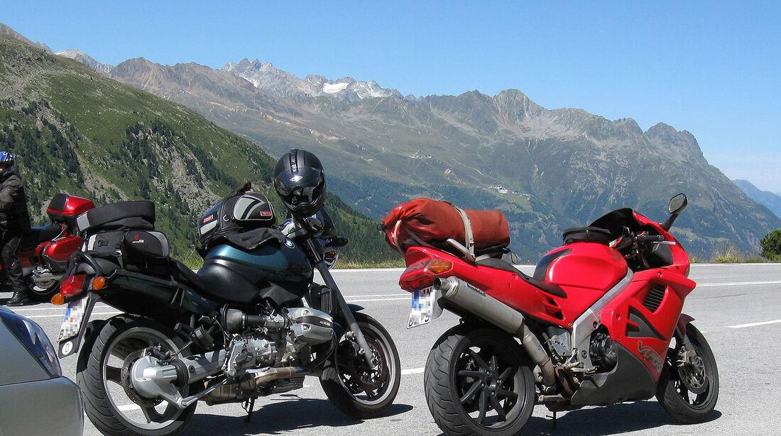 Motorrad Alpen