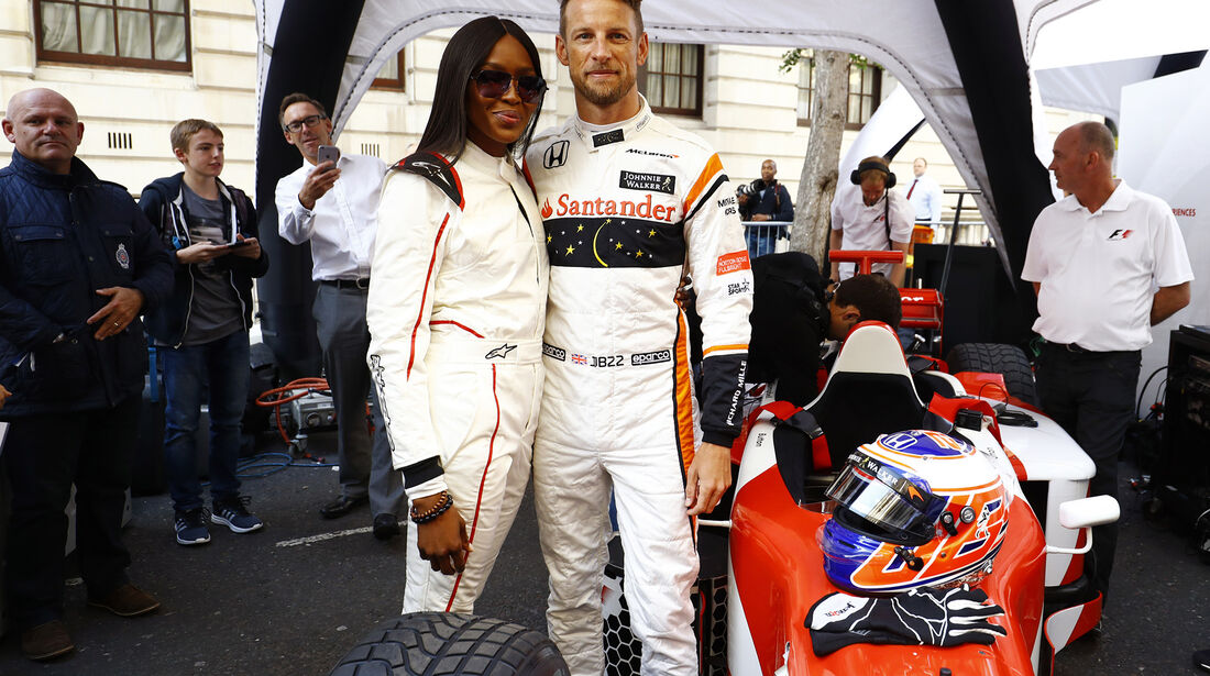 Naomi Campbell & Jenson Button - F1 Live Show - London - 2017
