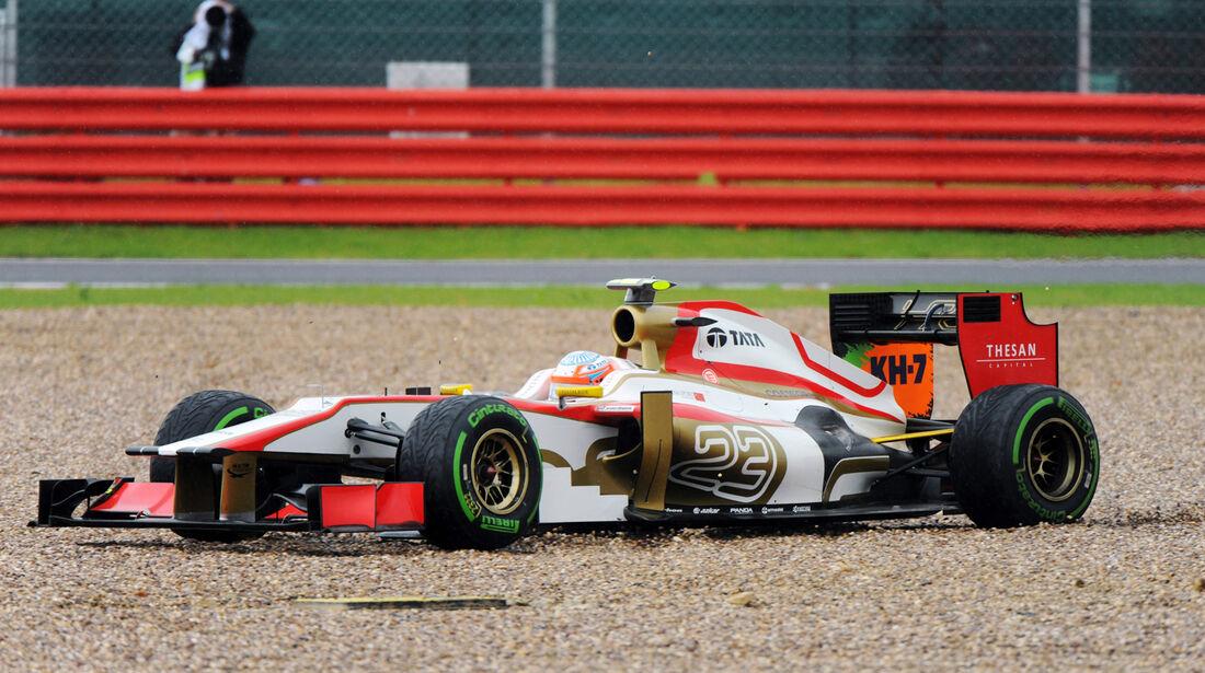 Narain Karthikeyan - HRT - Formel 1 - GP England - Silverstone - 7. Juli 2012