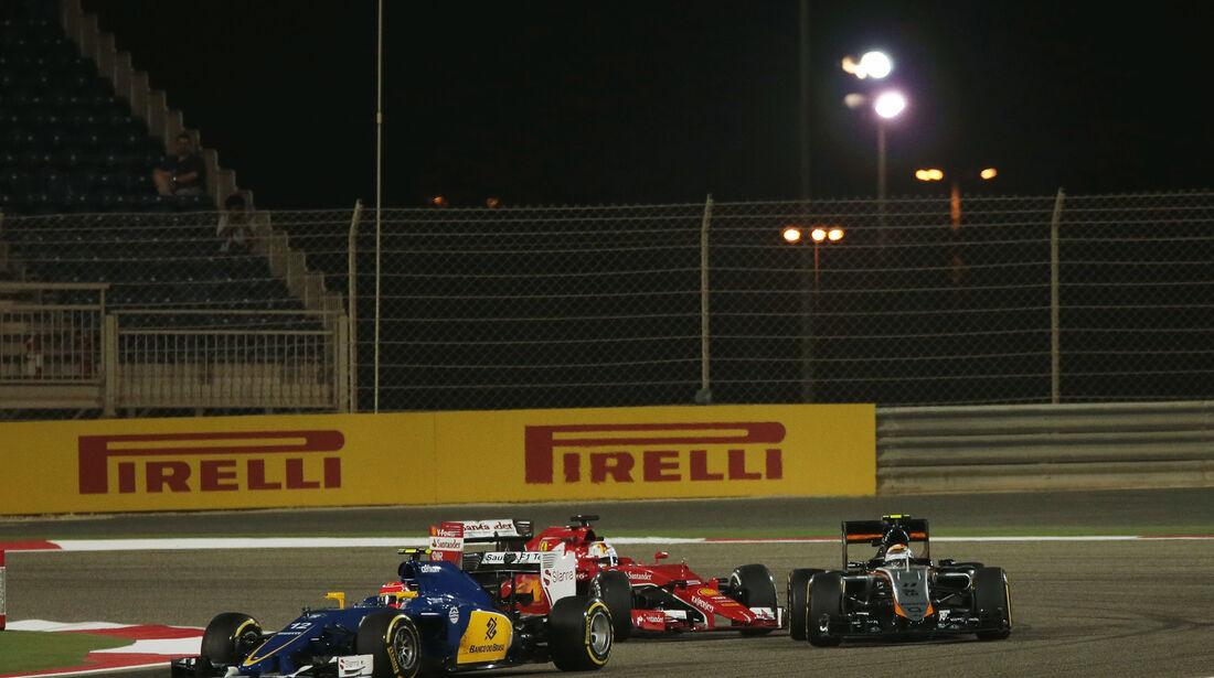 Nasr, Perez & Vettel - Formel 1 - GP Bahrain -  17. April 2015