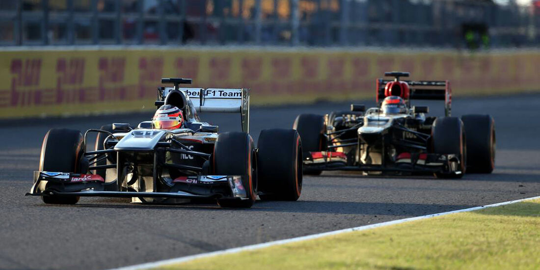 Ncio Hülkenberg Kimi Räikkönen GP Japan 2013