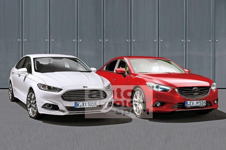 Neuer Mazda 6 und Ford Mondeo Retusche