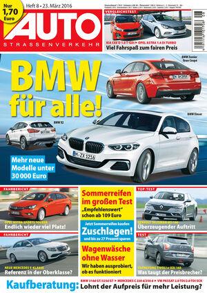 Neues Heft AUTOStraßenverkehr, Ausgabe 08/2016, Vorschau