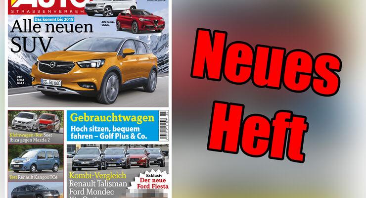 Neues Heft AUTOStrassenverkehr, Ausgabe 26/2016, Vorschau