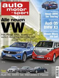 Neues Heft, auto motor und sport-Ausgabe 04/2017, Vorschau