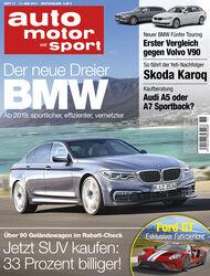 Neues Heft auto motor und sport, Ausgabe 11/2017, Vorschau