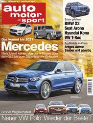 Neues Heft auto motor und sport, Ausgabe 23/2017, Heftvorschau