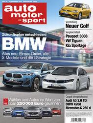 Neues Heft auto motor und sport, Ausgabe 24/2016, Vorschau, Preview