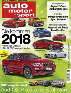 Neues Heft auto motor und sport, Ausgabe 25/2017, Heftvorschau
