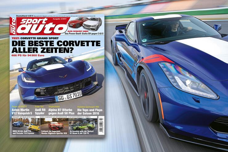 Neues Heft sport auto, Ausgabe 2/2017, Vorschau, Preview