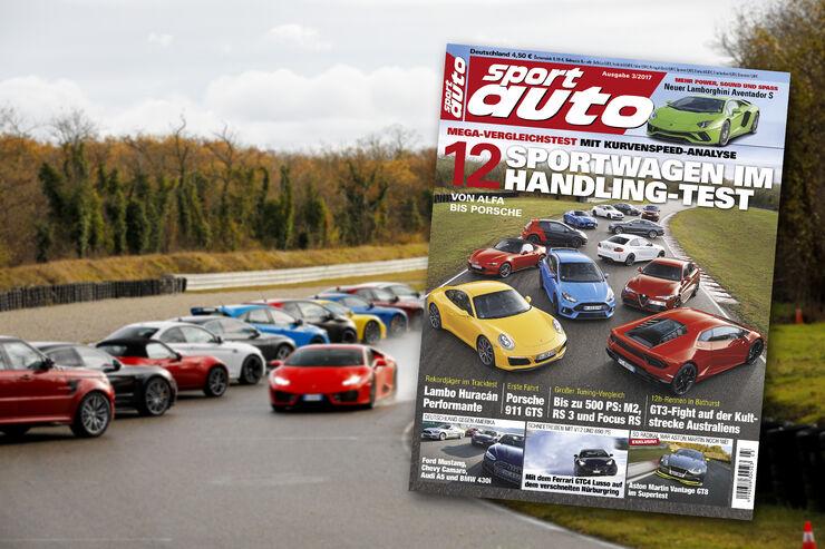 Neues Heft sport auto, Ausgabe 3/2017, Vorschau, Preview