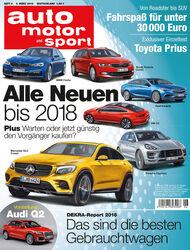 Neues Heft von auto motor und sport, Ausgabe 6/2016, Vorschau