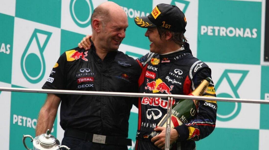 Newey Vettel GP Malaysia 2011 Formel 1