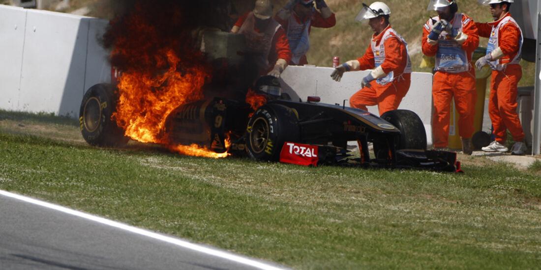 Nick Heidfeld GP Spanien  Crashs 2011