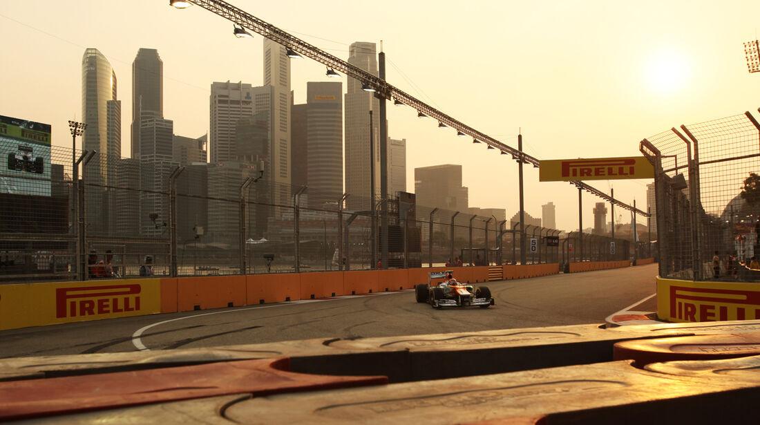 Nico Hülkenberg - Force India - Formel 1 - GP Singapur - 22. September 2012