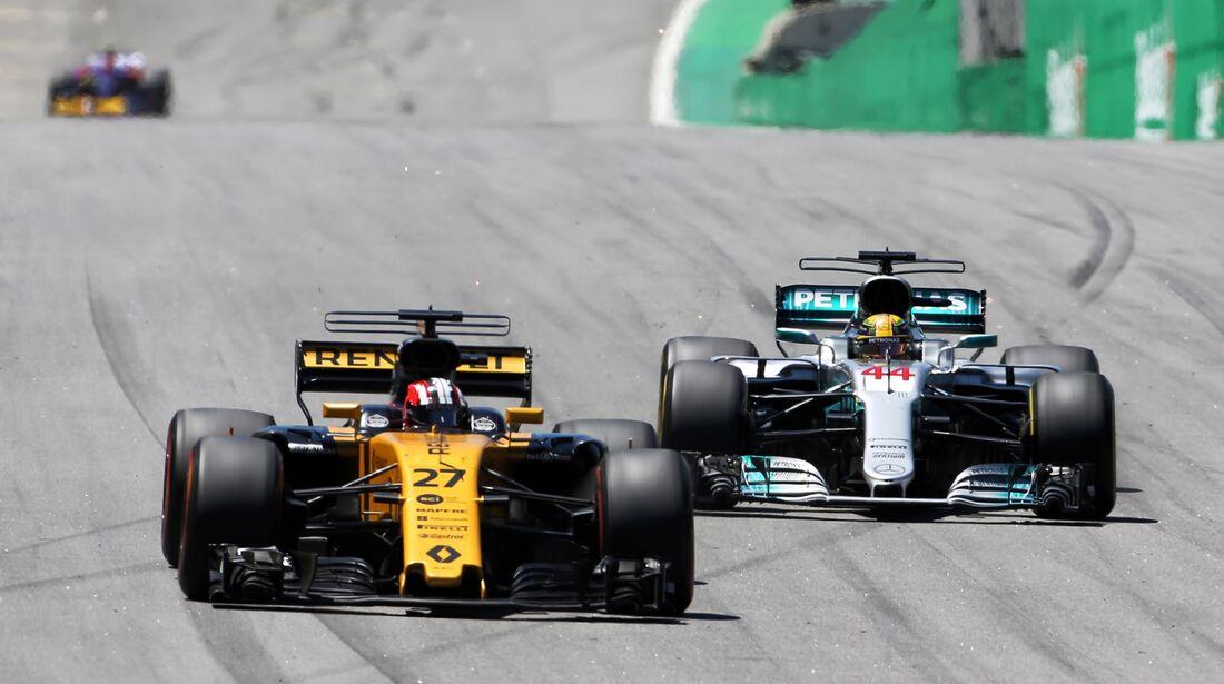 Nico Hülkenberg - Lewis Hamilton - Formel 1 - GP Brasilien - 12. November 2017
