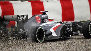 Nico Hülkenberg Sauber F1 Test Barcelona 2013