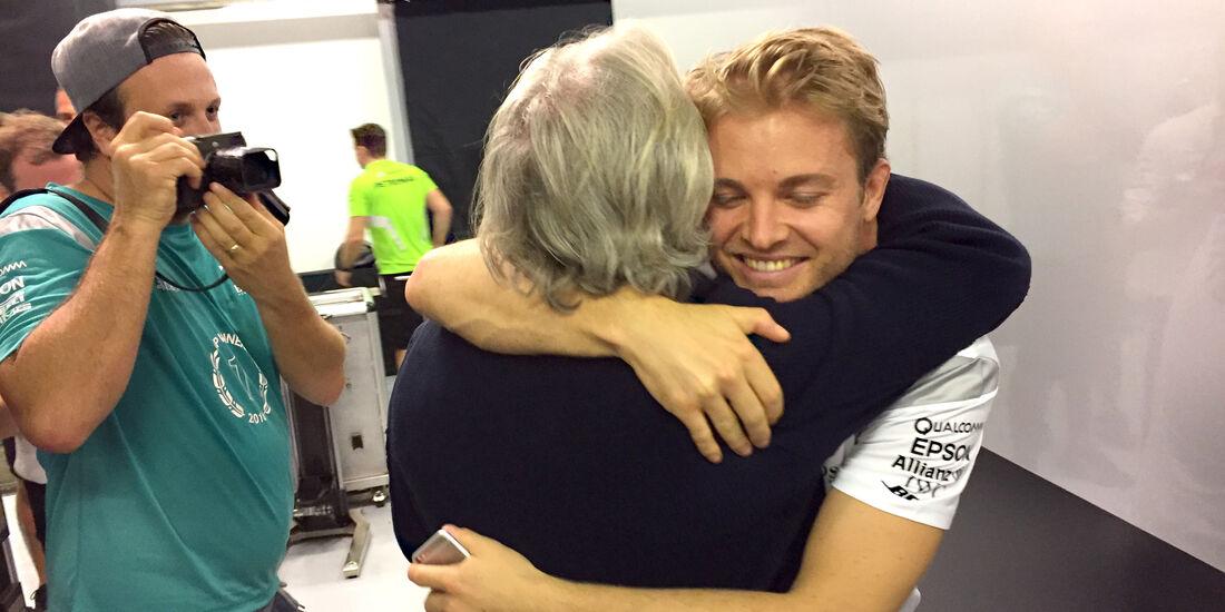 Nico & Keke Rosberg - GP Abu Dhabi 2016