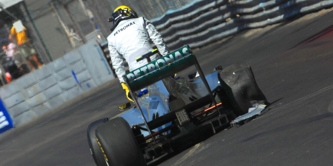 Nico Rosberg Crash GP Monaco 2011
