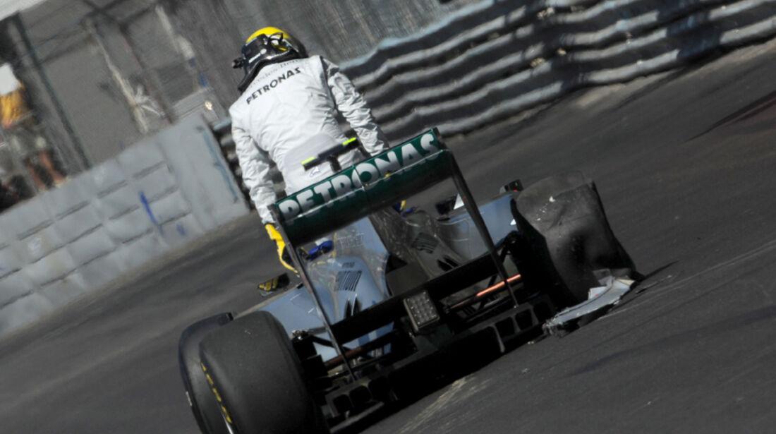 Nico Rosberg GP Monaco Crashs 2011
