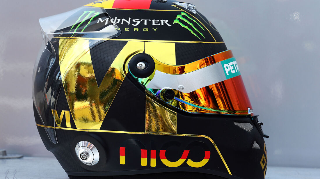 Nico Rosberg - Helm - GP Deutschland 2014