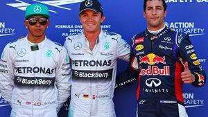 Nico Rosberg Lewis Hamilton Daniel Ricciardo GP Monaco 2014