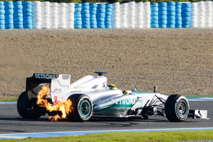 Nico Rosberg Mercedes F1 Test Jerez 2013 Highlights
