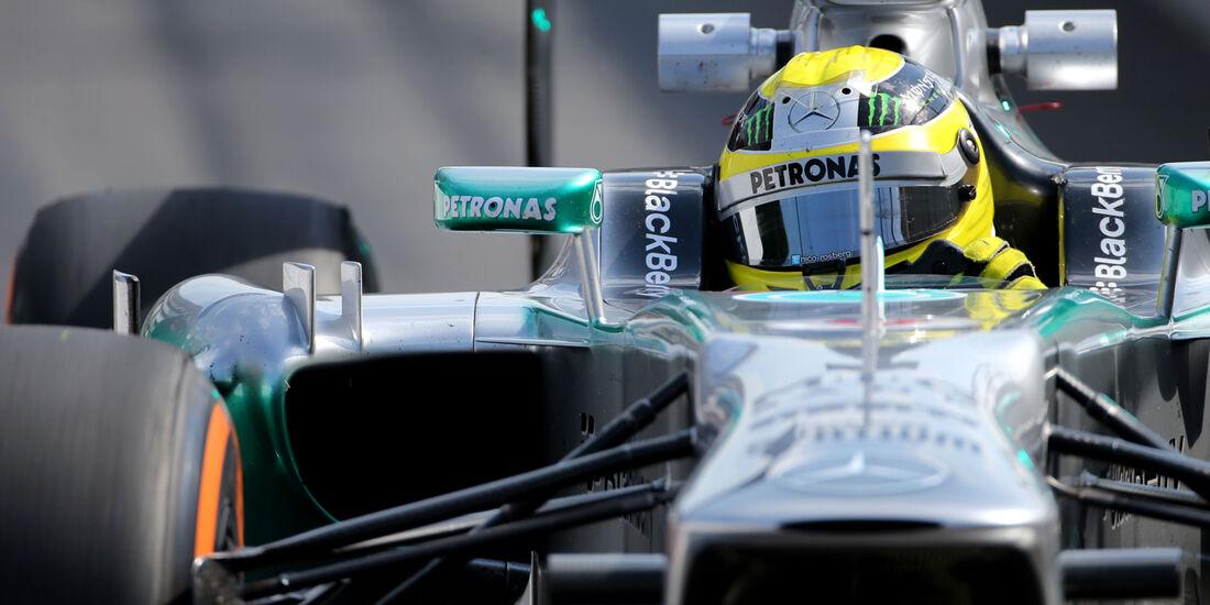 Nico Rosberg - Mercedes - Formel 1 - GP Belgien - Spa-Francorchamps - 23. August 2013