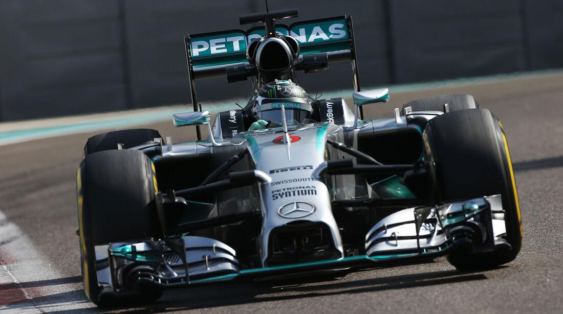 Nico Rosberg - Mercedes - Formel 1 Test - Abu Dhabi - 25. November 2014