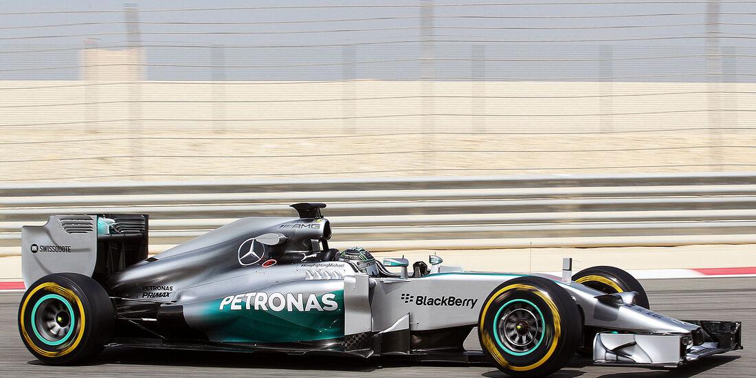 Nico Rosberg - Mercedes - Formel 1 - Test - Bahrain . 27. Februar 2014