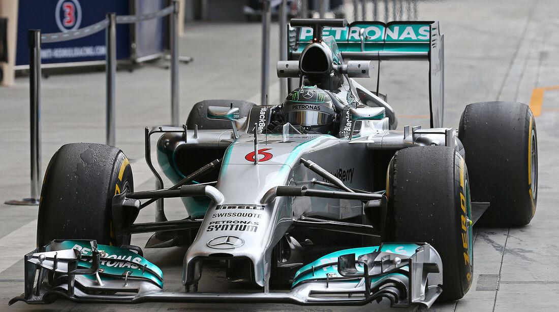 Nico Rosberg  Mercedes - Formel 1 - Test - Bahrain - 27. Februar 2014