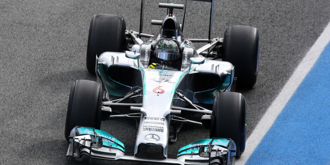 Nico Rosberg - Mercedes - Jerez - Formel 1 - Test - 29. Januar 2014