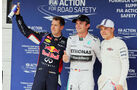Nico Rosberg - Sebastian Vettel - Valtteri Bottas  - Formel 1 - GP Ungarn - 26. Juli 2014